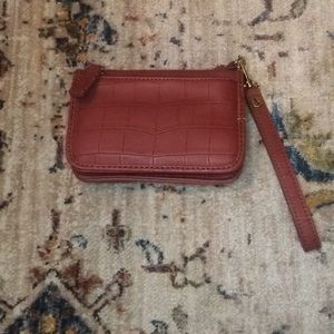 The limited Brown wallet wristlet